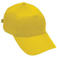 Бейсболка STANDARD, 5 клиньев, металлическая застежка, Желтый, -, 8300 34