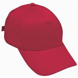 Бейсболка STANDARD, 5 клиньев, металлическая застежка, Красный, -, 8300 40