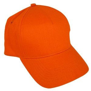 Бейсболка STANDARD, 5 клиньев, металлическая застежка, Оранжевый, -, 8300 44