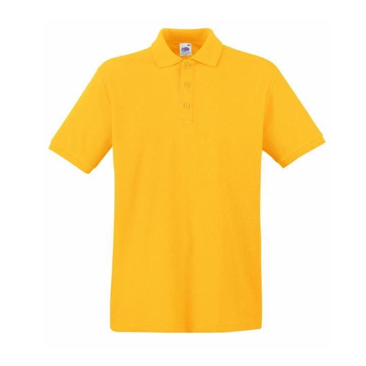 Поло мужское PREMIUM POLO 180, Желтый, 2XL, 632180.34 2XL