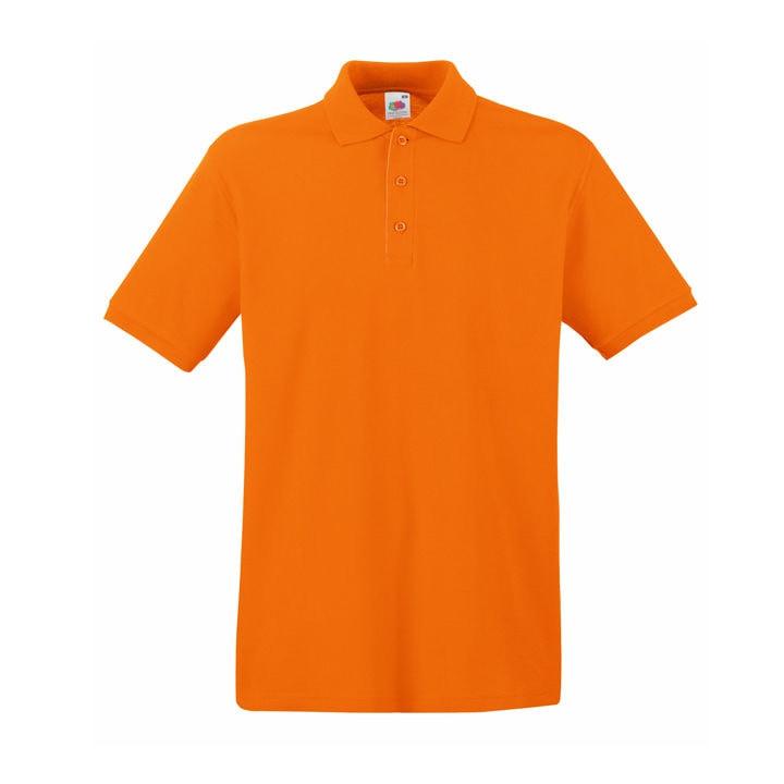 Поло мужское PREMIUM POLO 180, Оранжевый, S, 632180.44 S