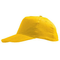 Бейсболка детская SUNNY KIDS, 5 клиньев, застежка на липучке, Желтый (Pantone 106C), -, 788111.301