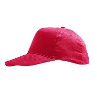 Бейсболка детская SUNNY KIDS, 5 клиньев, застежка на липучке, Красный, -, 788111.145