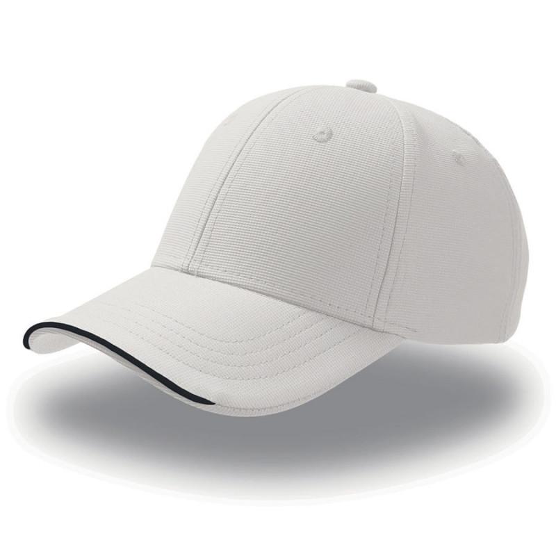 Бейсболка ESTORIL, 6 клиньев, застежка на липучке, Белый, -, 25407.01