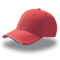 Бейсболка ESTORIL, 6 клиньев, застежка на липучке, Красный, -, 25407.08