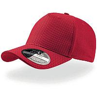 Бейсболка GEAR, 5 клиньев, застежка на липучке, Красный, -, 25410.08