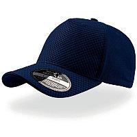 Бейсболка GEAR, 5 клиньев, застежка на липучке, Темно-синий, -, 25410.25