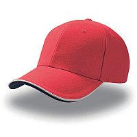 Бейсболка PILOT PIPING SANDWICH, 6 клиньев, металлическая застежка, Красный, -, 25419.08