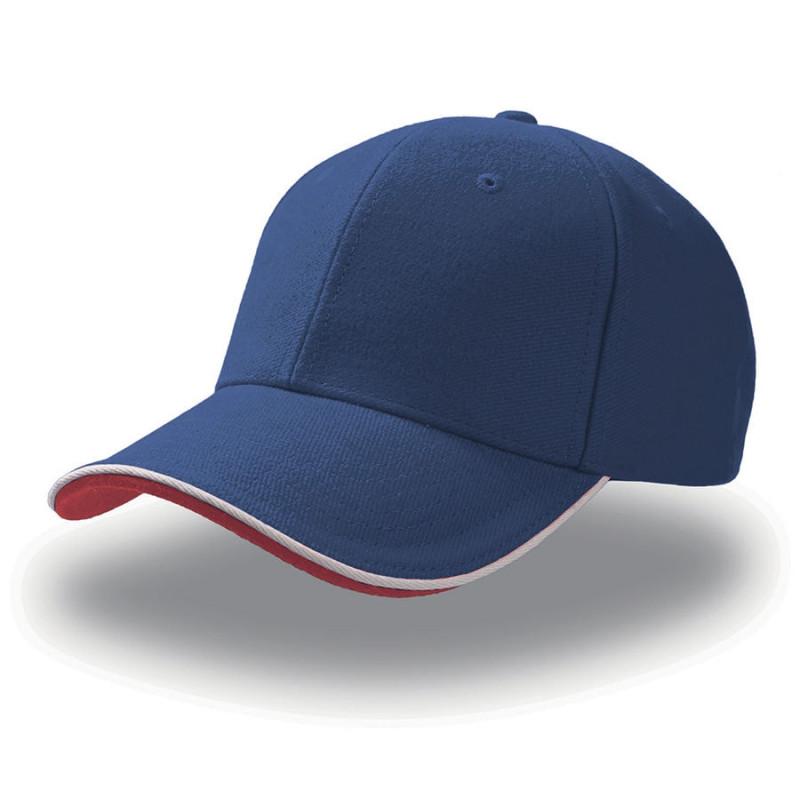 Бейсболка PILOT PIPING SANDWICH, 6 клиньев,  металлическая застежка, Синий, -, 25419.22