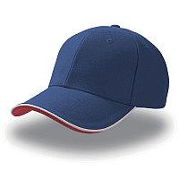 Бейсболка PILOT PIPING SANDWICH, 6 клиньев,  металлическая застежка, Синий, -, 25419.22, фото 1