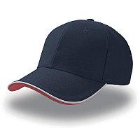 Бейсболка PIPING SANDWICH, 6 клиньев, металлическая застежка, Синий, -, 25419.25