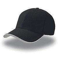 Бейсболка PIPING SANDWICH, 6 клиньев, металлическая застежка, Черный, -, 25419.35