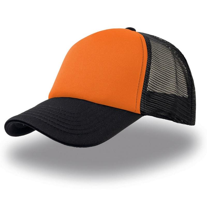 Бейсболка RAPPER, 5 клиньев, пластиковая застежка, Черный, -, 25420.535