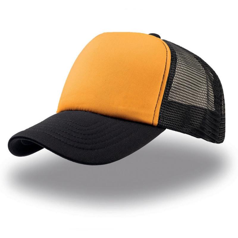 Бейсболка RAPPER, 5 клиньев, пластиковая застежка, Желтый (Pantone 106C), -, 25420.335