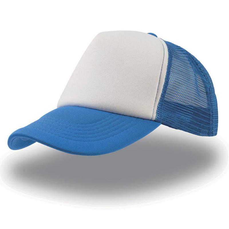 Бейсболка RAPPER, 5 клиньев, пластиковая застежка, Синий, -, 25420.22