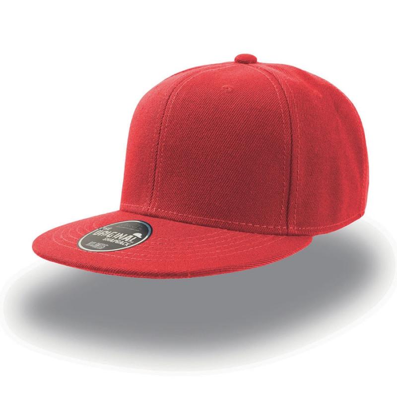 Бейсболка SNAP BACK, 6 клиньев,  пластиковая застежка, Красный, -, 25424.08