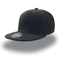 Бейсболка SNAP BACK, 6 клиньев, пластиковая застежка, Черный, -, 25424.35