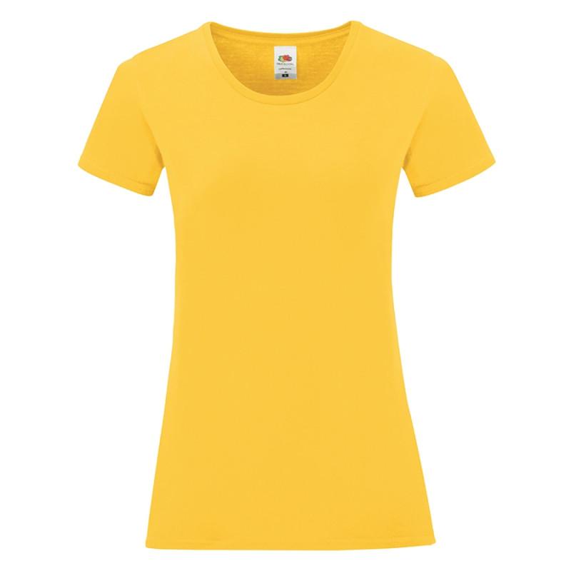Футболка женская LADIES ICONIC 150, Желтый (Pantone 106C), S, 614320.34 S