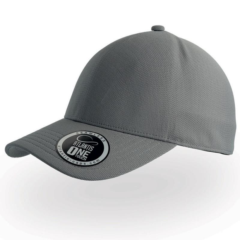 Бейсболка CAP ONE, без панелей и швов, без застежки, Серый, -, 25448.29
