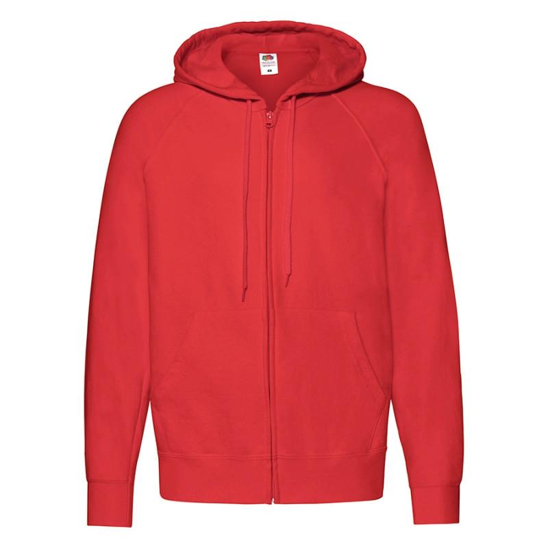 Толстовка мужская LIGHTWEIGHT HOODED SWEAT JACKET 240, Красный, S, 621440.40 S