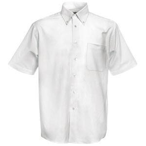 Рубашка мужская SHORT SLEEVE OXFORD SHIRT 130 , Белый, L, 651120.30 L - фото 1