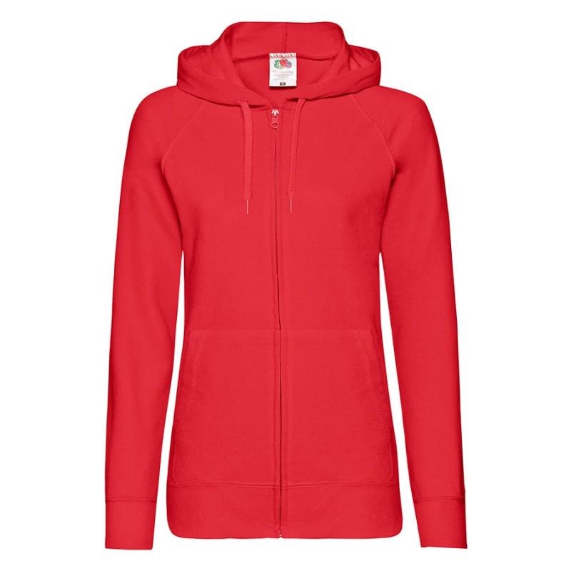 Толстовка женская LADIES LIGHTWEIGHT HOODED SWEAT 240, Красный, XL, 621500.40 XL