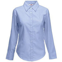 Рубашка женская LONG SLEEVE OXFORD SHIRT LADY-FIT 135, Голубой, M, 650020.OD M, фото 1