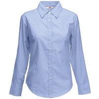 Рубашка женская LONG SLEEVE OXFORD SHIRT LADY-FIT 135, Голубой, L, 650020.OD L