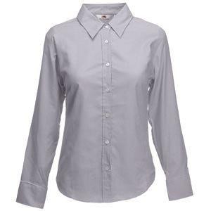 Рубашка женская LONG SLEEVE OXFORD SHIRT LADY-FIT 135, Серый, M, 650020.OC M