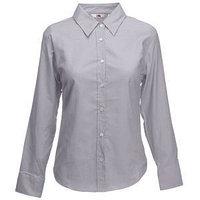 Рубашка женская LONG SLEEVE OXFORD SHIRT LADY-FIT 135, Серый, M, 650020.OC M, фото 1