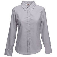 Рубашка женская LONG SLEEVE OXFORD SHIRT LADY-FIT 135, Серый, L, 650020.OC L, фото 1