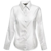 Рубашка женская LONG SLEEVE OXFORD SHIRT LADY-FIT 130, Белый, XS, 650020.30 XS