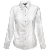 Рубашка женская LONG SLEEVE OXFORD SHIRT LADY-FIT 130, Белый, S, 650020.30 S