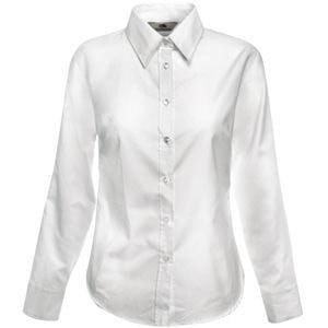 Рубашка женская LONG SLEEVE OXFORD SHIRT LADY-FIT 130, Белый, XL, 650020.30 XL
