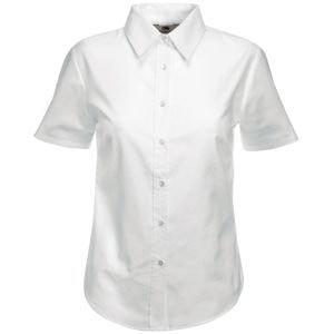 Рубашка женская SHORT SLEEVE OXFORD SHIRT LADY-FIT 130, Белый, S, 650000.30 S