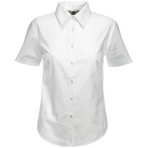 Рубашка женская SHORT SLEEVE OXFORD SHIRT LADY-FIT 130, Белый, L, 650000.30 L