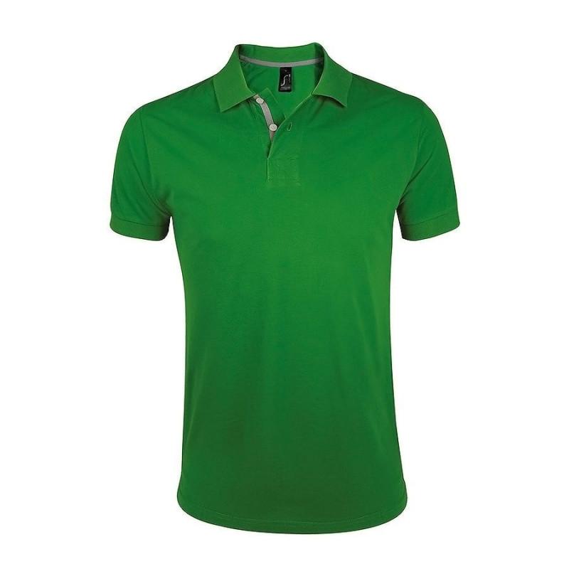 Поло мужское PORTLAND MEN 200, Зеленый, 2XL, 700574.284 2XL