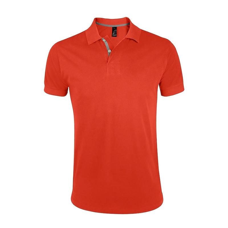 Поло мужское PORTLAND MEN 200, Оранжевый, L, 700574.403 L