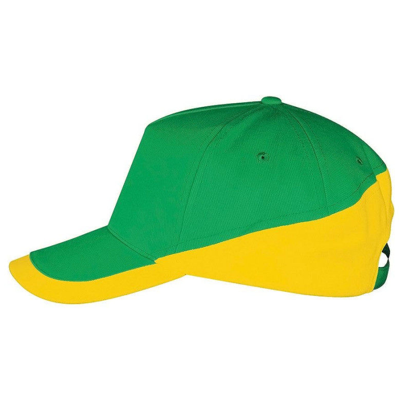 Бейсболка BOOSTER, 5 клиньев, металлическая застежка, Желтый, -, 700595.985