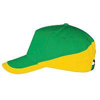 Бейсболка BOOSTER, 5 клиньев, металлическая застежка, Желтый (Pantone 106C), -, 700595.985
