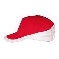 Бейсболка BOOSTER, 5 клиньев, металлическая застежка, Красный, -, 700595.908