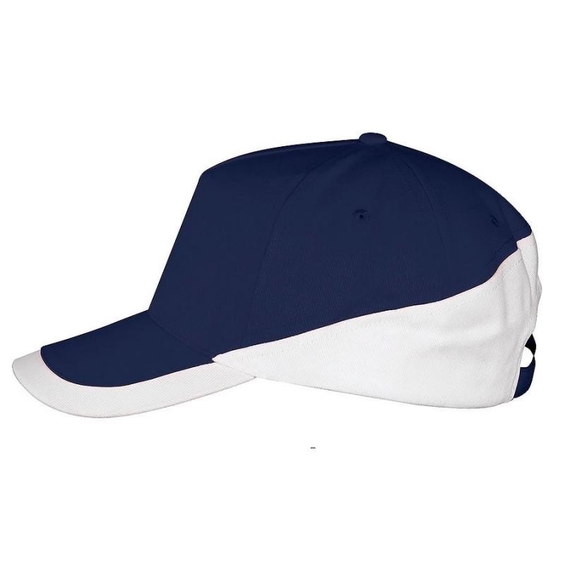 Бейсболка BOOSTER, 5 клиньев, металлическая застежка, Темно-синий, -, 700595.912