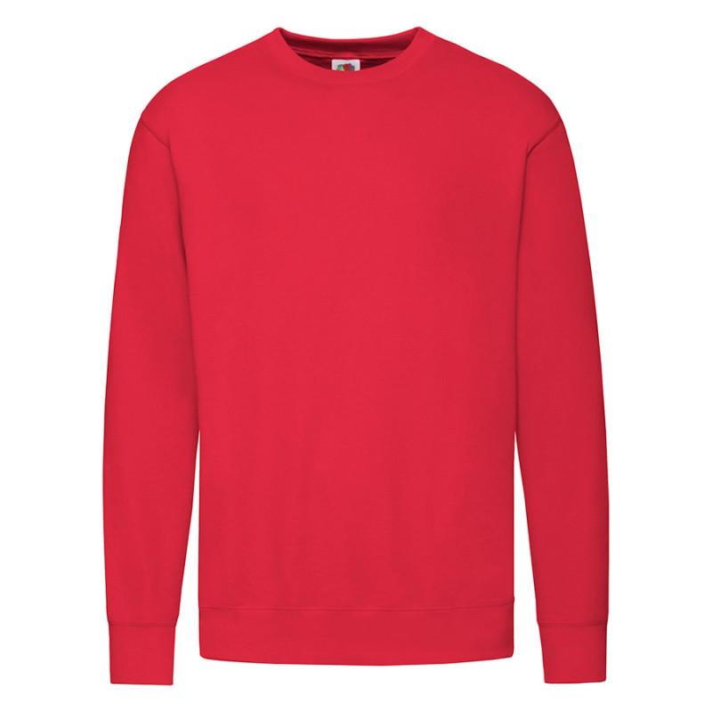 """Толстовка мужская без начеса """"Lightweight Set-in Sweat"""", красный, L, 80% х/б 20% полиэстер, 240 г/м2, Красный,"""