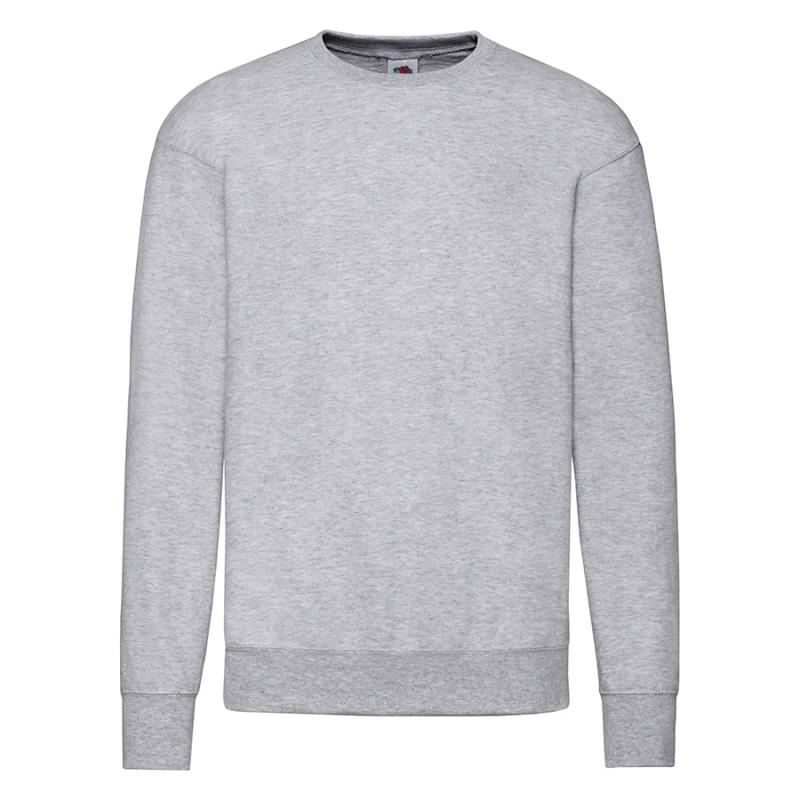 """Толстовка мужская без начеса """"Lightweight Set-in Sweat"""", серый, XL, 80% х/б 20% полиэстер, 240 г/м2, Серый,"""