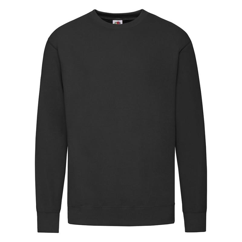 """Толстовка мужская без начеса """"Lightweight Set-in Sweat"""", черный, XL, 80% х/б 20% полиэстер, 240 г/м2, Черный,"""