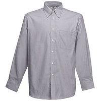 Рубашка мужская LONG SLEEVE OXFORD SHIRT 135, Серый, M, 651140.OC M