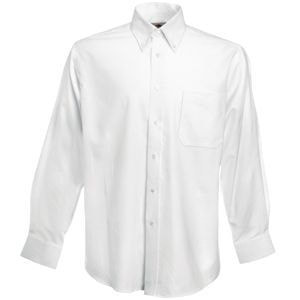 Рубашка мужская LONG SLEEVE OXFORD SHIRT 130, Белый, M, 651140.30 M - фото 1