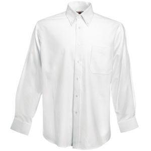 Рубашка мужская LONG SLEEVE OXFORD SHIRT 130, Белый, 2XL, 651140.30 2XL - фото 1