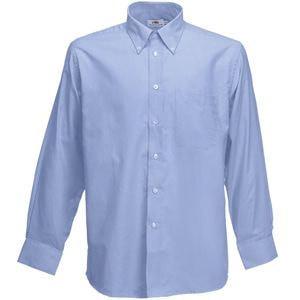 Рубашка мужская LONG SLEEVE OXFORD SHIRT 135, Голубой, XL, 651140.OD XL - фото 1