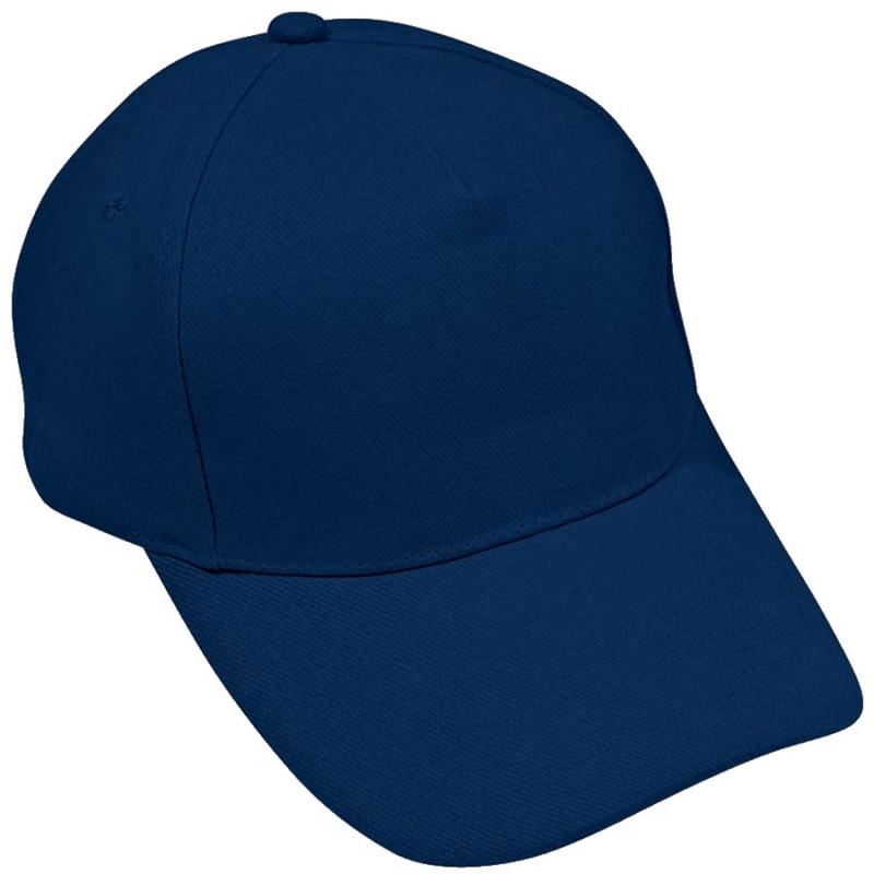Бейсболка HIT, 5 клиньев, застежка на липучке, Темно-синий, -, 8302 32